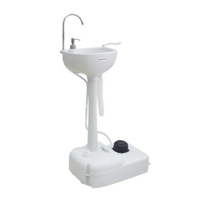 Portable Camping Sink Hand Washing Sanitation with Wheels Hand Wash Basin Stand