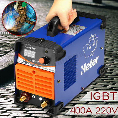 Mini MMA ARC Welder 220V 10-400A IGBT Welding Machine Solder Inverter NEW