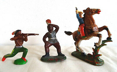 DDR Wildwest Figuren Jesse James Mingo Massasoit von Hopf, Lisanto, Riedeler