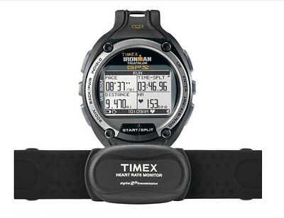 1b6c0b0c7d6a TIMEX T5K444 Ironman Global Trainer GPS HRM Watch + Heart Rate Monitor NEW