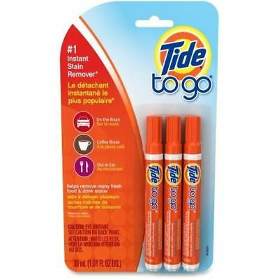 Tide to Go Instant Stain Remover Pen Pack of 3 Sticks 01871 Travel Business
