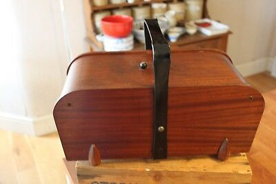 Vintage Wooden Art Deco Style Sewing Box – Storage – Great! –