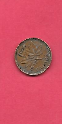 Canada  Km41 1948 Vf-Very Fine-Nice Old Vintage Bronze Cent Coin Free Shipping