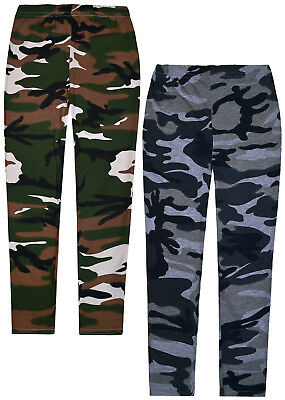 Girls New Camo Legging Kids Jolly Rascals Full Length Pants Ages 5 - 13 Years