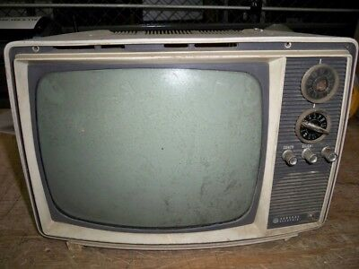 General Electric M110BVY Vintage UHF VHF Mini Television UNTESTED