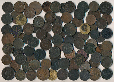 92 Old Canada Copper Coins & Tokens (Plenty Collectibles Must See) No Reserve