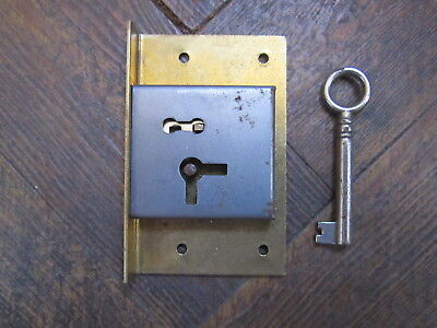 Vintage Brass Cabinet Lock And Key