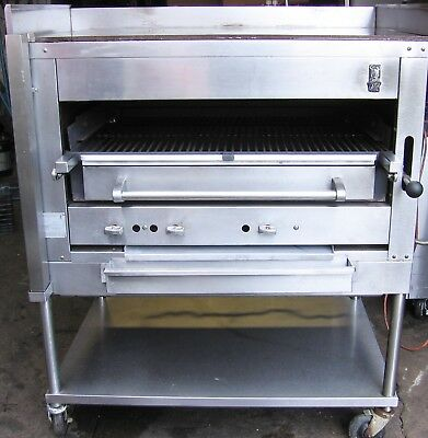 Montague Broiler Cook Top Grill Salamander Char Oven Natural Gas w stand/casters