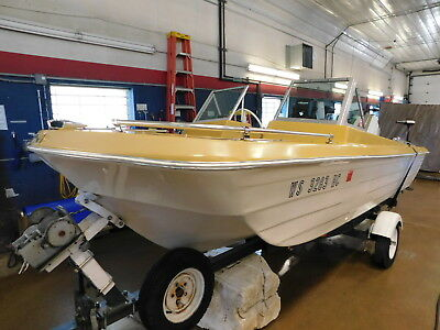 15' Bee Craft Tri Hull 55HP Chrysler w/ Trailer   T1280317
