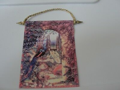 Dollhouse Miniature Hanging Peacock & Garden Tapestry by A.Zinn  Super Piece!