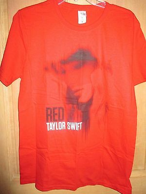 NEW Taylor Swift Red T-SHIRT TEE SHIRT LADIES M FACE
