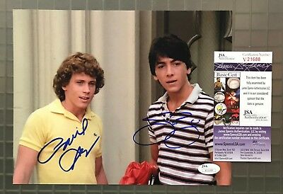 Willie Aames & Scott Baio Signed 8x10 CHARLES IN CHARGE Photo AUTO JSA COA