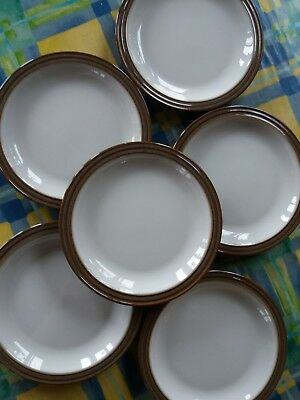 Denby Greystone 6 Tea Or Side Plates vgc