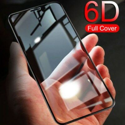 6D Screen Tempered Glass Protector Full Coverage For iPhone XS Max XR 8 7 11 Pro