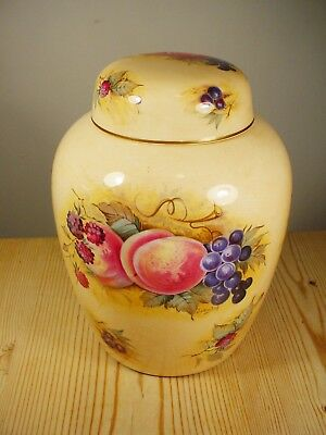 "Crown Staffordshire ""Orchard Glory"" Lidded Ginger Jar - J.A. Bailey"