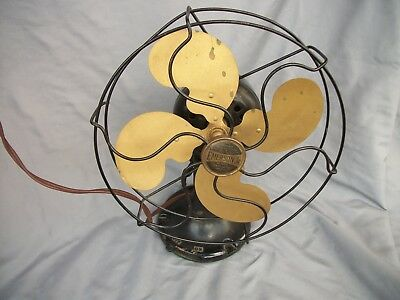 "Vintage Emerson Jr. Electric 10"" Blade  Oscillating Fan Model Works"