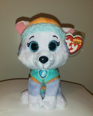 "Ty Beanie Boos - EVEREST the 6"" Nickelodeon Paw Patrol Dog ~ NEW w/ Tags IN HAND"