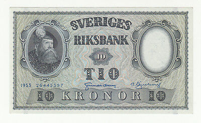 Sweden 10 kronor 1953 AUNC @ low start