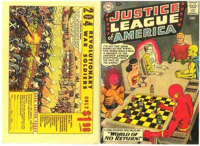 Facsimile reprint covers only to JUSTICE LEAGUE OF AMERICA #1 - 1960 Silver Age