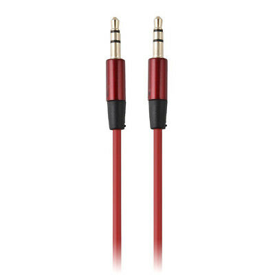 3.5mm Male to M Aux Auxiliary Cable Cord MP3 Stereo Car Audio Headphone Jack Red