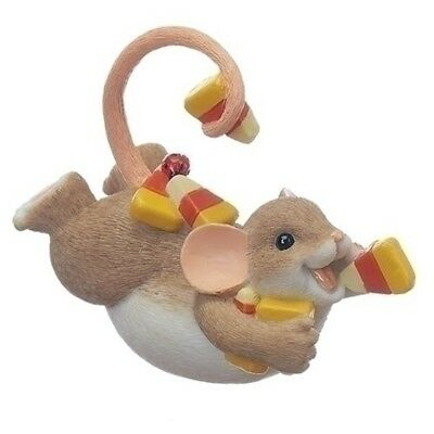 Charming Tails Mouse on Belly with Candy Corn Halloween Figurine 130455 New