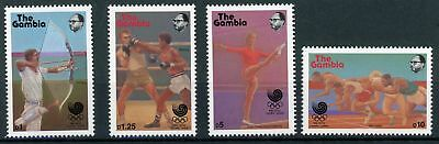 Gambia MiNr. 758-61 postfrisch/ MNH Olympia (Oly913