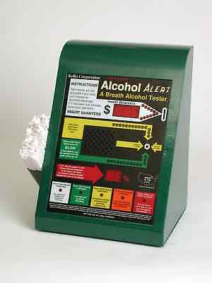 VINTAGE Coin Operated Kero Alcohol Alert Breathalyzer