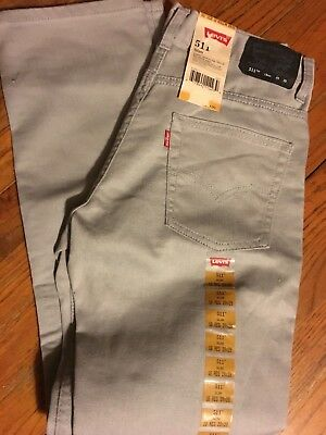 Levi's 511 Slim Jeans Gray color Boy's size 14-NWT