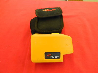 PLS3 3-Point Red Beam Laser Level Pacific Laser Systems by Fluke