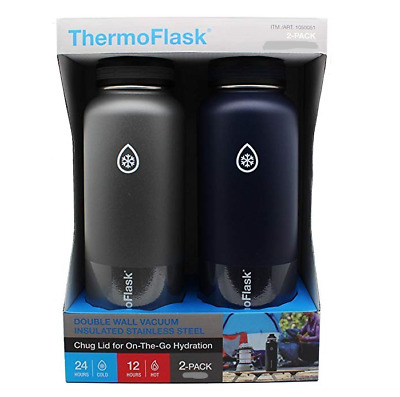 ThermoFlask 24-Ounce Double Wall Vacuum Insulated Stainless Steel, 2-Pack *New*