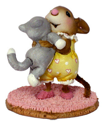 KITTY CUDDLE by Wee Forest Folk, WFF # M-355, Yellow, Retired Color