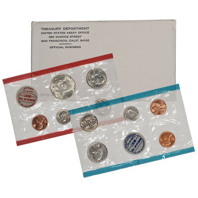 1970 United States Mint Uncirculated Coin Set (small date)