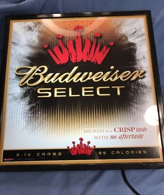 BUDWEISER SELECT Light Lager Style Beer 76X2 embroidered, but also sticky back