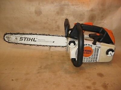 Stihl MS200T professional arborist gas chainsaw 16 inch bar and chain runs well