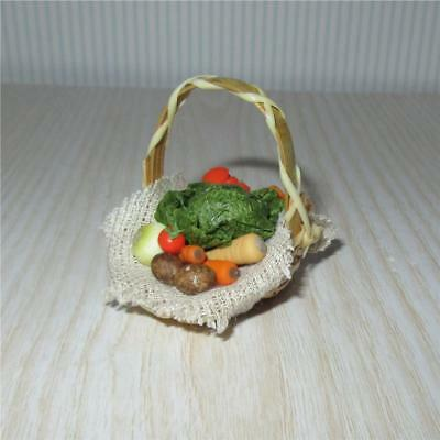 Miniature Dollhouse 1:12 Scale Mixed Vegetable Basket - F184