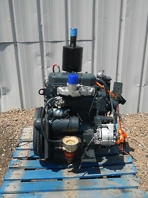 Perkins 3 Cylinder Diesel Engine Motor With Radiator From Lincoln Sa-250 Welder