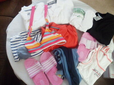 Junk Drawer Wholesale Lot Clothes Sandals Box 1 New/Used Resale Lot of 11 Pieces