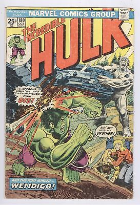 Incredible Hulk Comic #180 FR/GD 1st WOLVERINE Cameo Appearance Marvel 1974