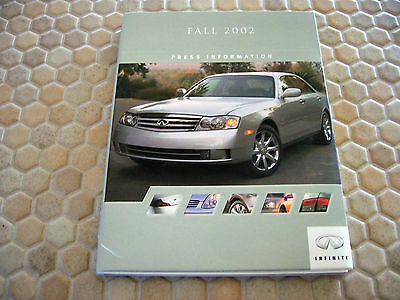 Infiniti Official G35 I35 M45 Q45 Qx4 Fx45 Press Kit Brochure Model Year 2003