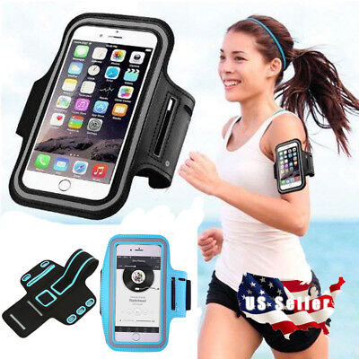 Armband Case Sports Running Jogging Exercise Arm Band Phone Holder Key Bag USA