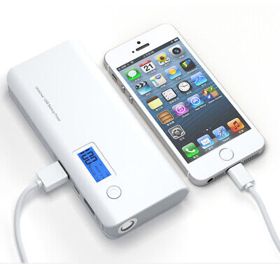 External 50000mAh LCD PowerBank Portable 2USB LED Battery Charger For Smartphone