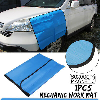 Magnetic Car Truck Fender Cover Mechanic Work Mat Cover Protector 80*60CM