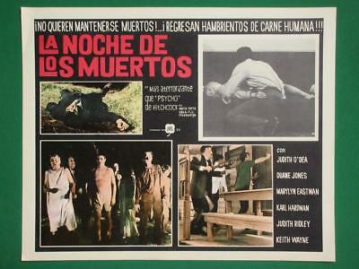 NIGHT OF THE LIVING DEAD Horror ZOMBIES GEORGE A. ROMERO MEXICAN LOBBY CARD 1