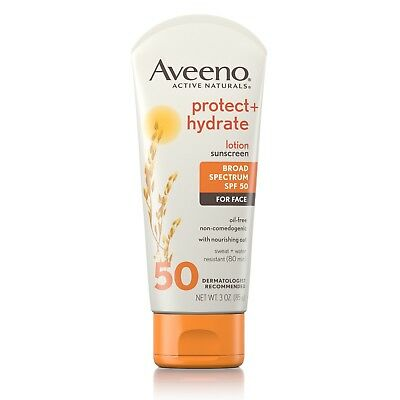 Aveeno Protect + Hydrate Face Sunscreen Lotion with SPF 50 3 FL. Oz