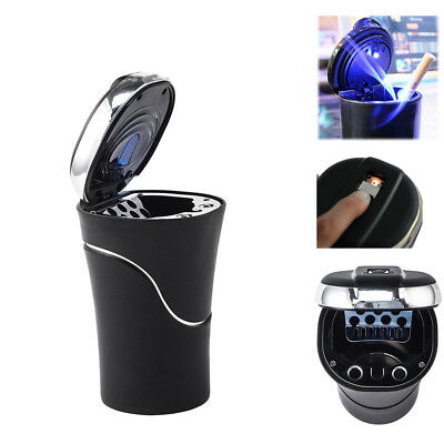 Car Led Smokeless Ashtray Travel Auto Cigarette Lighter Ash Cylinder Holder Cup