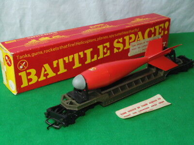 Vintage Tri-Ang Hornby R.239K Battle Space Red Arrow Bomb Transporter Boxed
