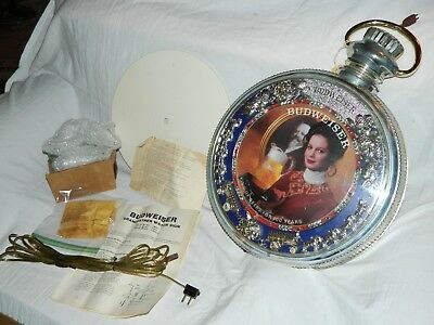 Vintage Budweiser 2 Sided Revolving Grandfather Watch