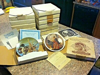 Collectable Vintage China Plates Edwin M Knowles Complete With Papers Mixed Lot