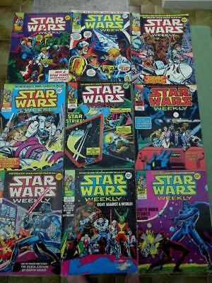 Collection of 9 Early Marvel Star Wars Magazines February to December 1978