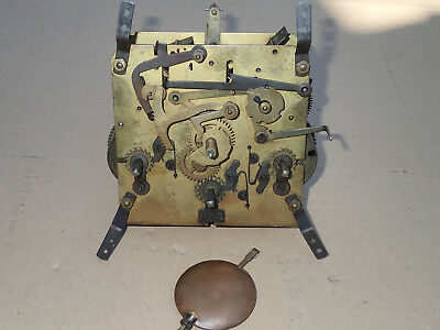 Vintage Westminster Chimes Movement And Pendulum